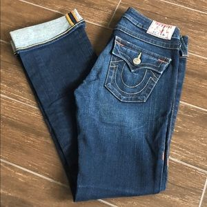 True Religion Super stretch straight leg